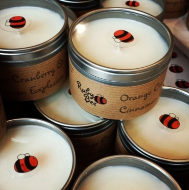Ruby Bee Fragrant  Candle